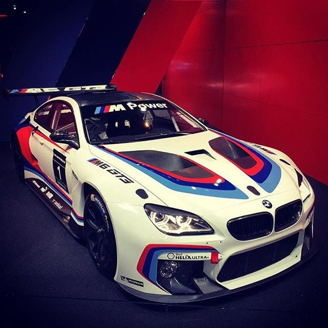 @BMW's New M6 GT3 Race Car - pic by @autobahner1 • #CarsWithoutLimits #FrankfurtMotorShow #M6