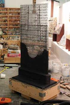 How to make a concrete sculpture base
