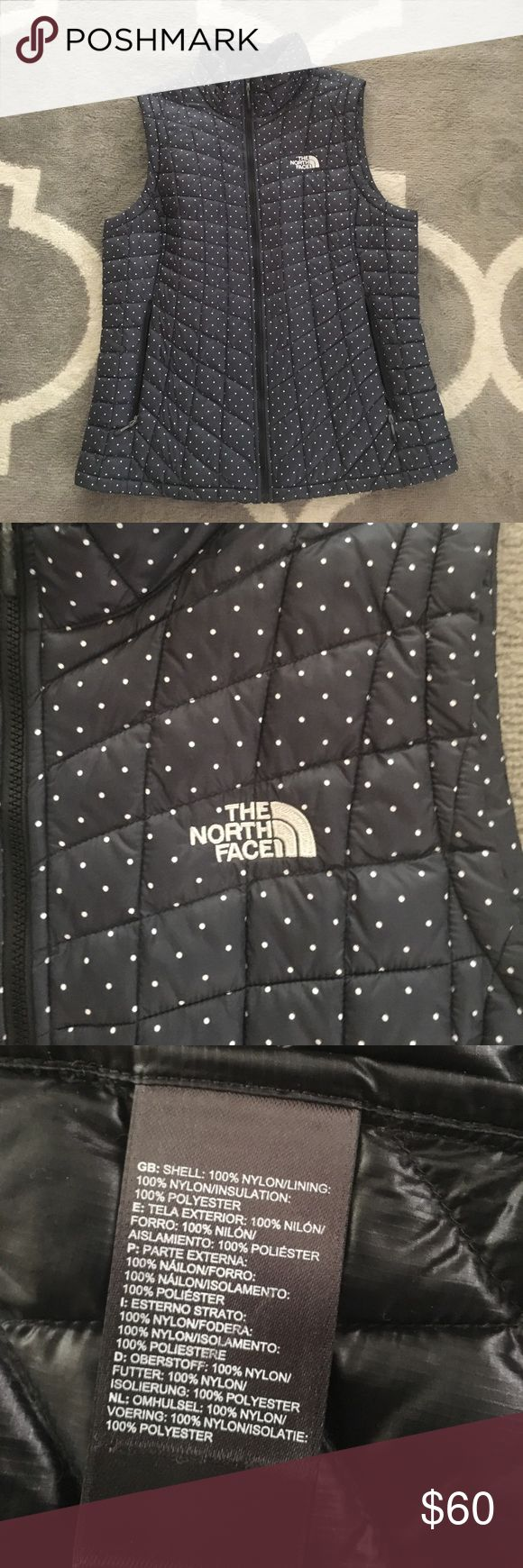 North face lightweight puffy vest The north face lightweight puffy vest navy.  Worn once. North Face Jackets & Coats Puffers