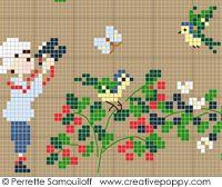 Perrette Samouiloff - A la montagne, Collection Bonheur d'enfance (point de croix)