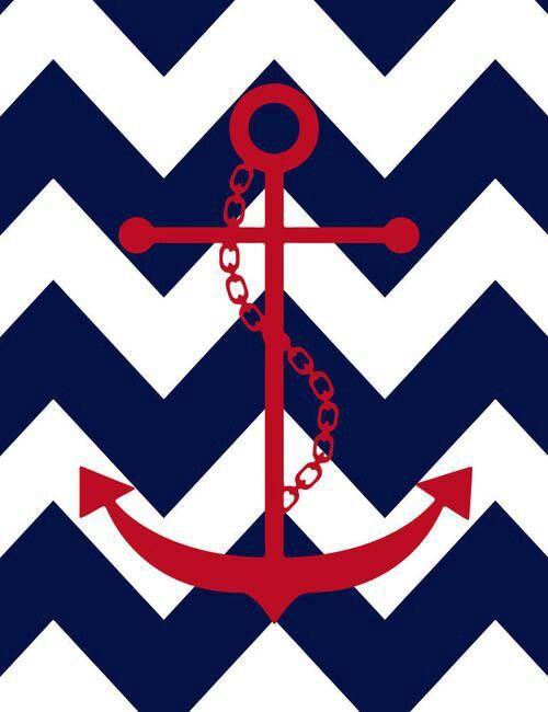 ... Wallpapers,... Light Blue Anchor Wallpaper