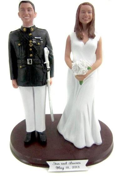 Marine Officer Groom Cake Topper