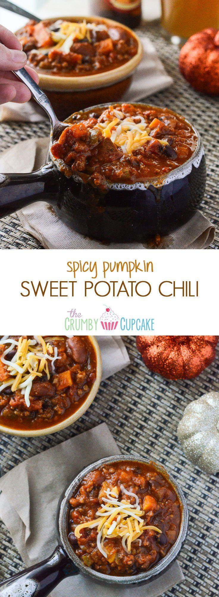 spicy pumpkin sweet potato chili # pumpkinweek crock pot sweet ...