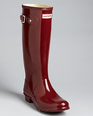 the color!! Hunter Huntress Extended Calf Glossy Rain Boots | Bloomingdale's