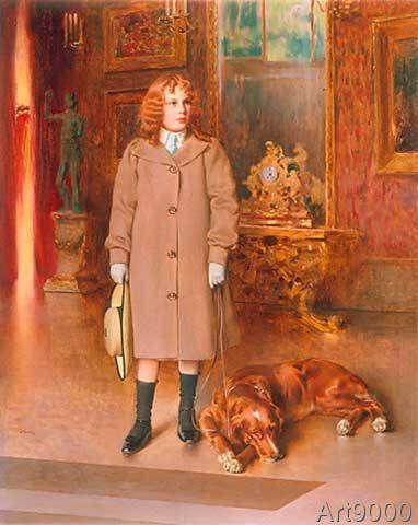 Vittorio Matteo Corcos - Memmi con il cane