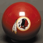 NFL - Washington Redskins Billiard Ball Set / 15 Balls and Cue BallDescription and Features:Bring your favorite football team to the billiard table with the Washington Redskins National Football League Billiards Set. You get seven Washington Redskins home team color billiard balls plus seven away team color billiard balls. This refreshing and exciting alternative to typical stripes and solids 8-ball is the best way to show support for your home team every time you rack up for pool.Pro