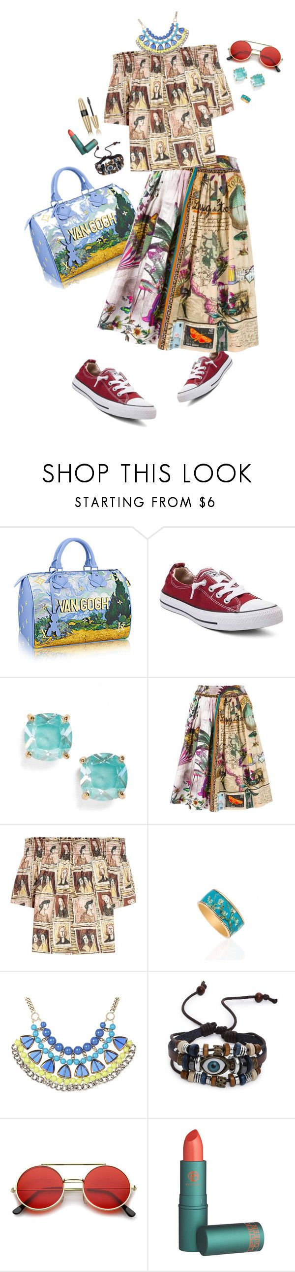 """""""Oops!"""" by girlyskullsam ❤ liked on Polyvore featuring Converse, Kate Spade, Etro, Burberry, Victoria's Secret, Jessica Simpson and ZeroUV"""
