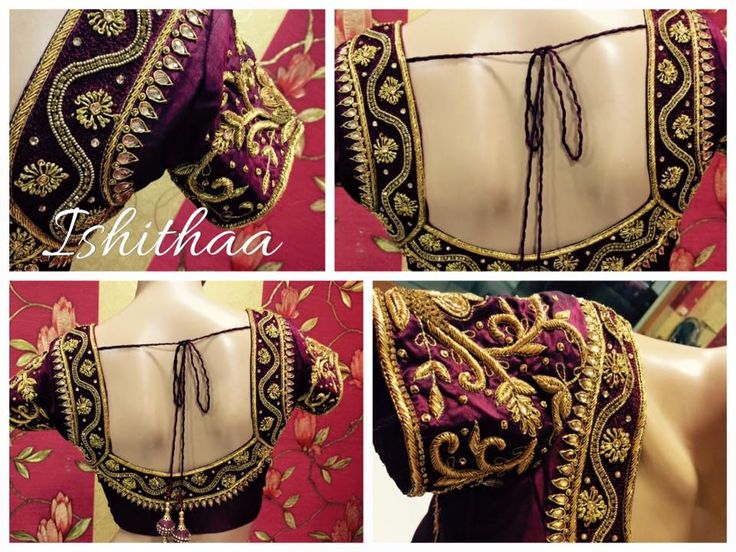 Bridal blouse designed at Ishithaa with complete zardosi detailing. :) Ping us on 9884179863 for further enquiries or to book an appointment! :) 30 April 2016