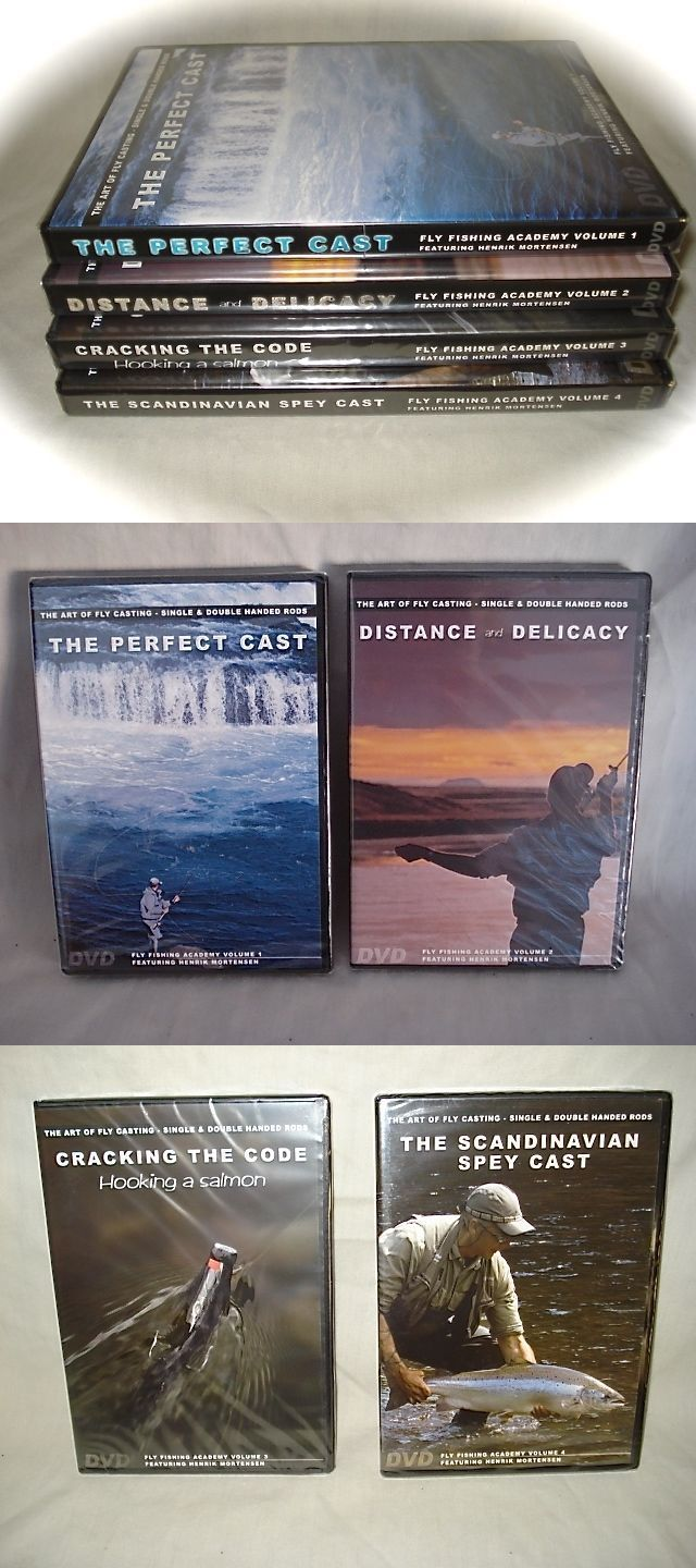 Books and Video 62155: New Sealed ~The Art Of Fly Casting~ 4 Volume Dvd Collection ~ Henrik Mortensen -> BUY IT NOW ONLY: $50 on eBay!