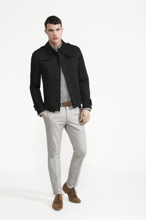 Calibre - Geo Print Shirt | Twill Tab Pant | Black Short Mac | Tan Ante Belt | Valencia Suede Lace Up