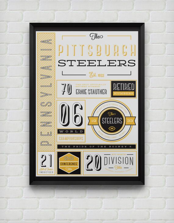 Pittsburgh Steelers Stats Print by DesignsByEJB on Etsy, $18.00