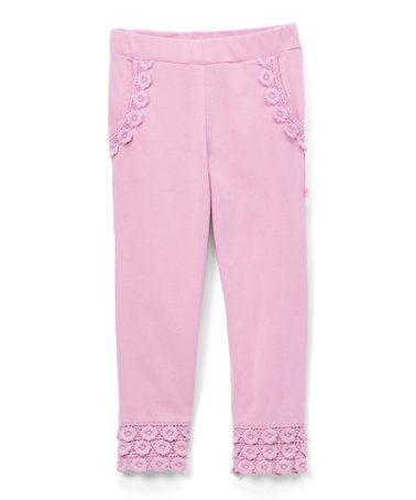 007495c5c447a This Pink Lace-Trim Leggings - Infant, Toddler & Girls is perfect!  #zulilyfinds