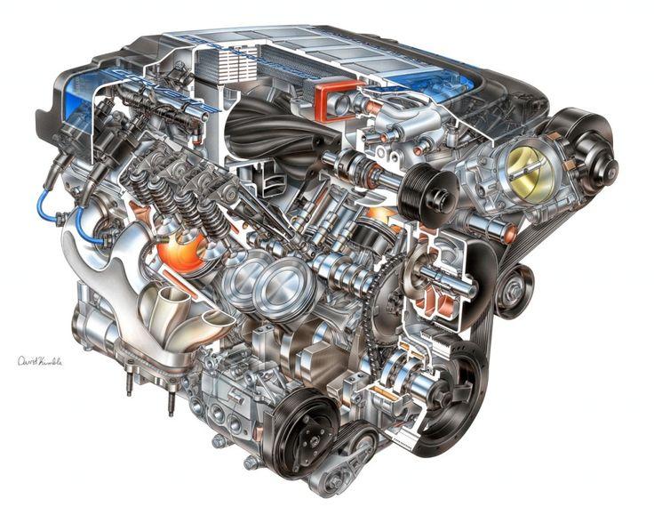 LS9 ZR1 6.2L V8 engine cutaway by David Kimble