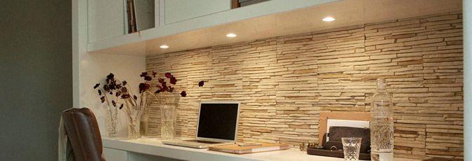 Steenstrips slaapkamer google zoeken woon ideen pinterest bureaus en zoeken - Muurbekleding houten badkamer ...