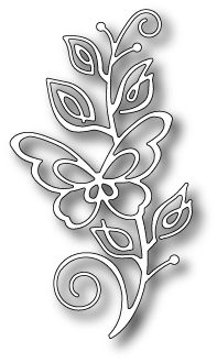 PoppyStamps - Die - Bellina Butterfly Stem