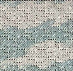 needlepoint swirl stitch good for use as water, rain or sky/clouds