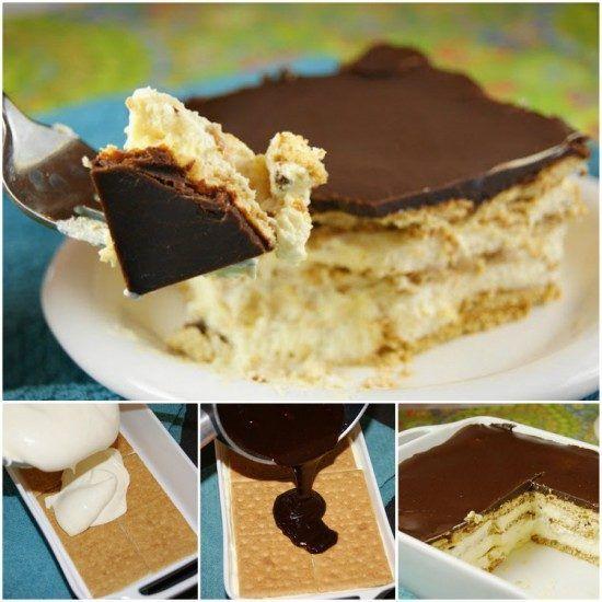 Chocolate Eclair Cake No Bake Pinterest Recipe