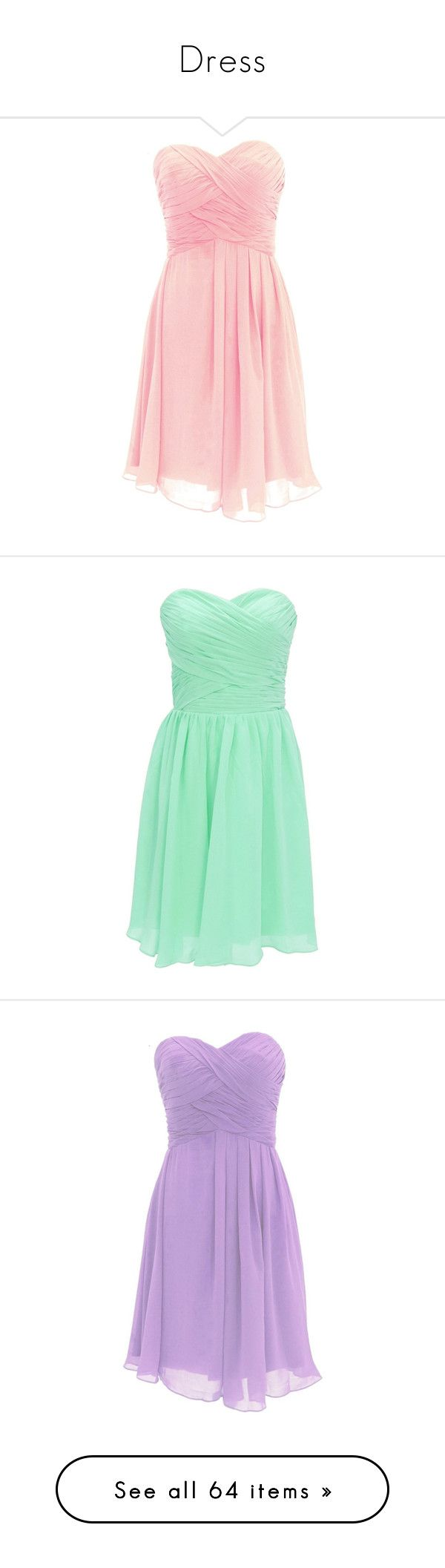 """""""Dress"""" by fiori-cas ❤ liked on Polyvore featuring dresses, mini dress, pink cocktail dress, pink mini dress, pink dress, short pink dress, green cocktail dress, green mini dress, green dress and short green dress"""
