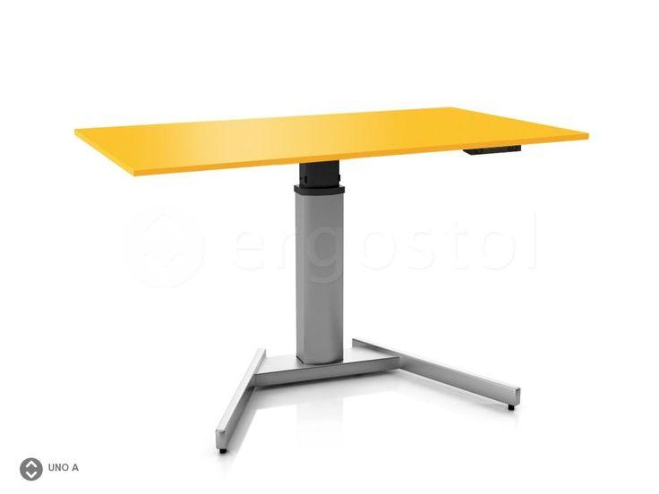 Стол с изменением высоты ErgoStol Uno A на одной ножке