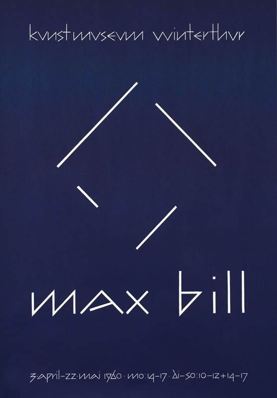 Max Bill - Winterthur by Bill, Max | Vintage Posters at International Poster Gallery