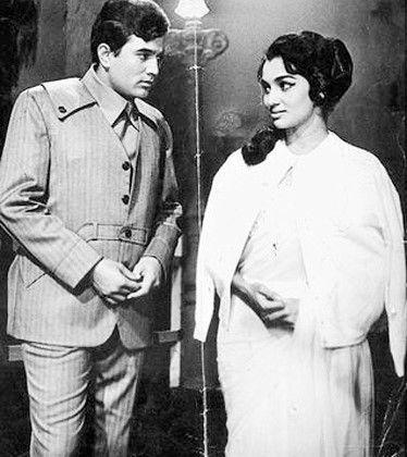 Rajesh Khanna and Asha Parekh in Kati Patang 1970.