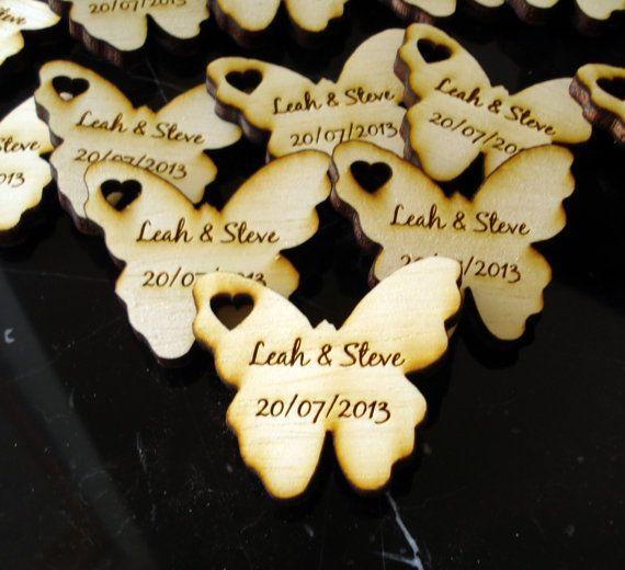 Wood Butterfly Wedding Favors 100 pieces Butterflies