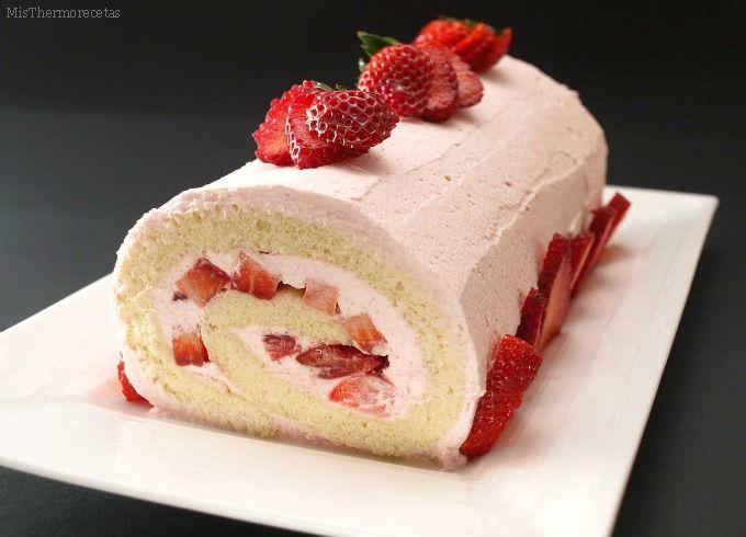 Brazo de gitano de fresa - MisThermorecetas.com