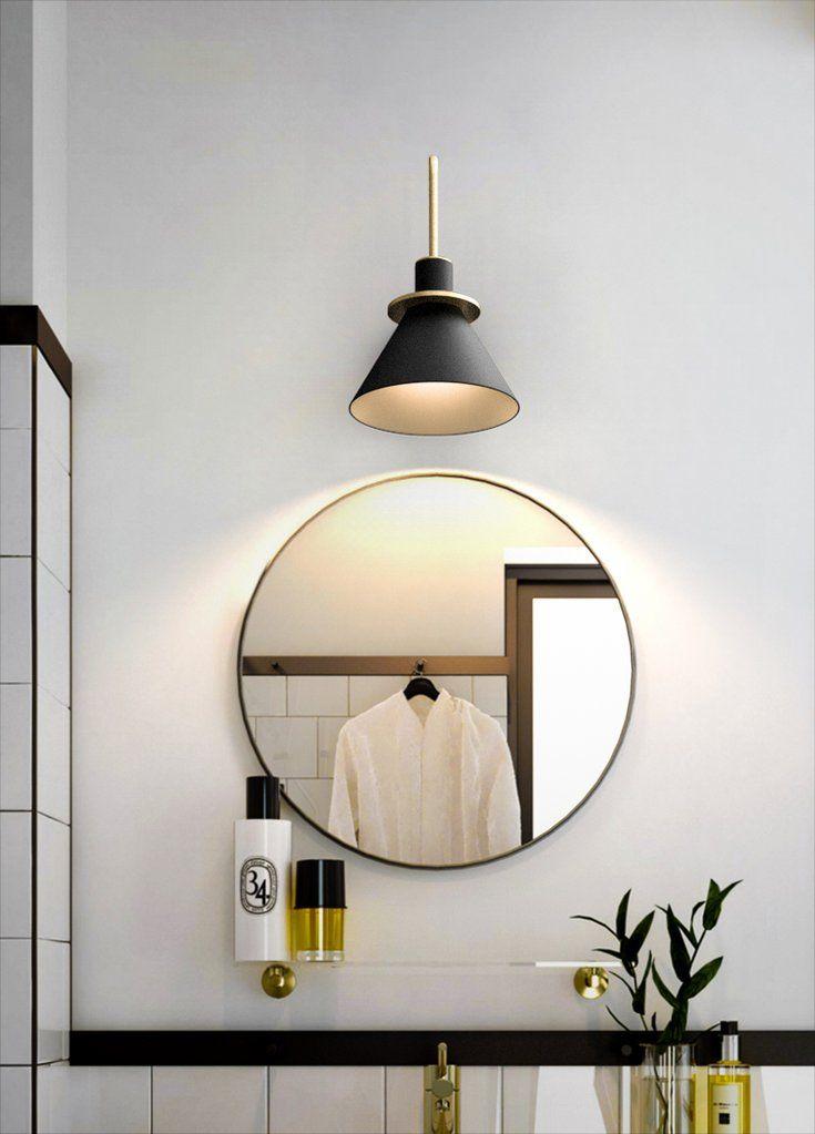 Brass Trumpet Modern Wall Light In 2020 Wall Sconces Living Room Modern Wall Lights Powder Room Lighting