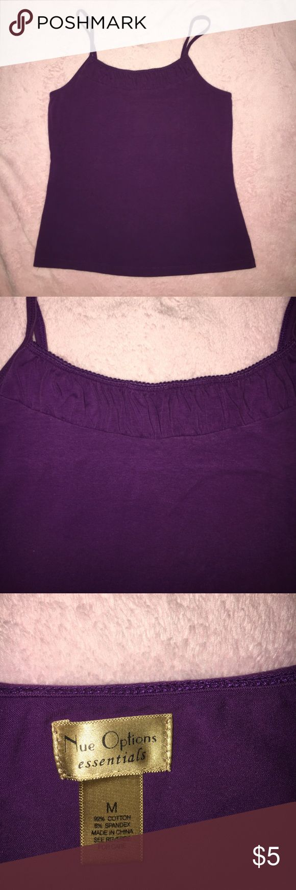 Purple Cami by Nue Options Purple Cami with adjustable straps. Size Medium. nue options Tops Camisoles