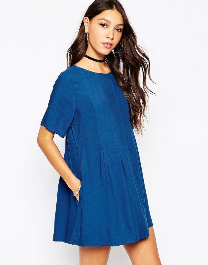 Motel - Laura - Ausgestelltes Kleid in Mitternachtsblau - Midnight