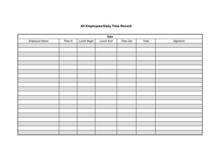 17 melhores imagens sobre construction forms no Pinterest – Printable Employee Time Sheet