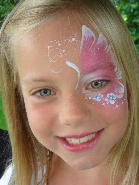 Face paint Butterfly.  Easy and fast!