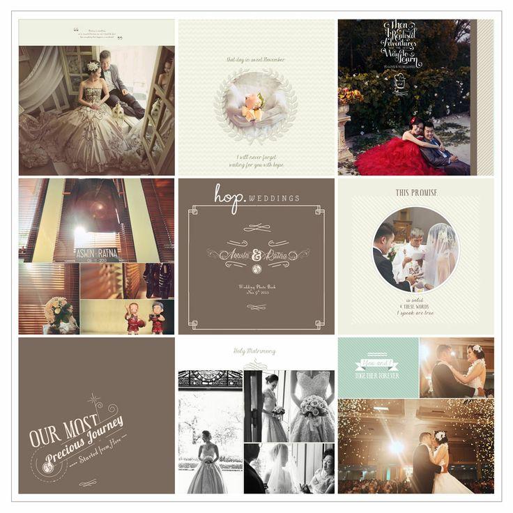 Aswin & Ratna Wedding Photobook Design, photo by HOP, edit & design by Wenny Lee