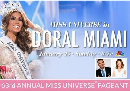 """Read Carol's Examiner article for the most recent Miss Universe news Excitement is in the air with the upcoming """"The 63rd Annual Miss Universe Pageant"""" welcoming the New Year on Sunday, January 25...."""