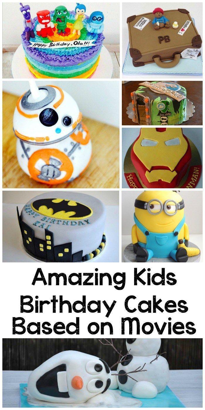 10 Amazing Kids' Birthday Cakes Based on Movies. Minion cakes, Frozen cakes... lots of DIY ideas!