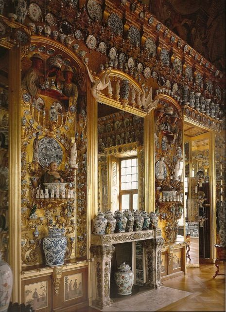 You thought you loved blue and white Chinese porcelain? The China Cabinet at Charlottenburg Palace in Berlin.: