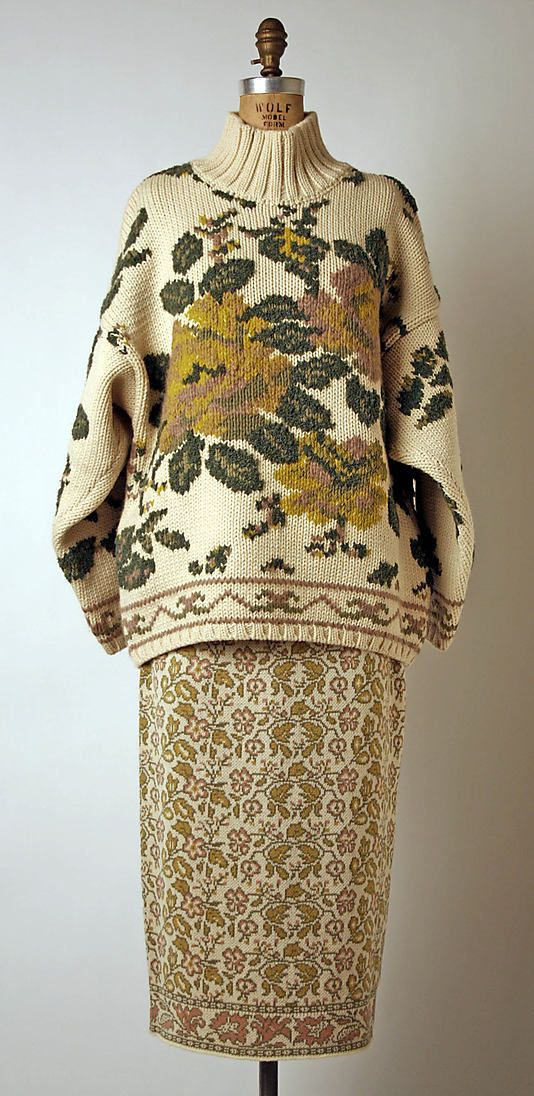 Vintage 1983 wool Ensemble by Jean Paul Gaultier, French - still looks great today