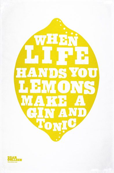 Tea Towel! ...And I prefer my g's with limes, but... let us not be too picky, ne?