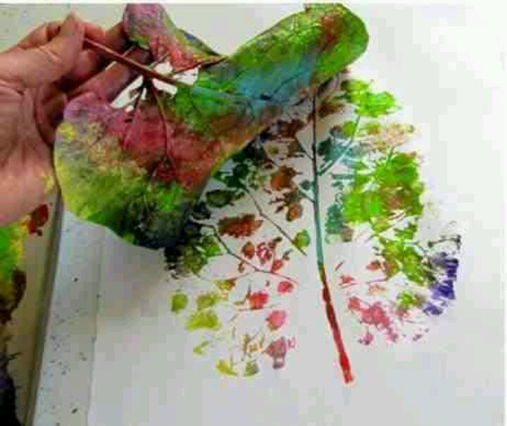 Perfect activity for a rainy blustery autumn sunday - Leaf printing what a beautiful idea #autumnadventures #autumncovered