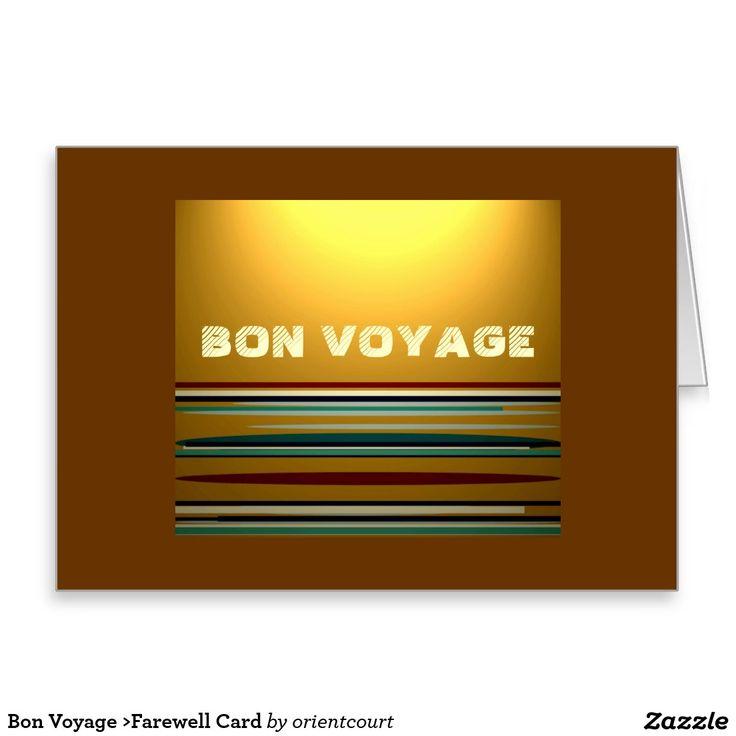 Bon Voyage >Farewell Card
