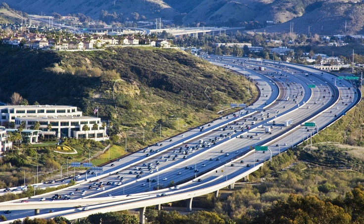 The Interstate 5 local bypass creates 20 lanes of freeway in Del Mar.