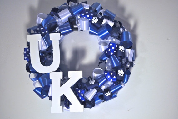 University of Kentucky Wreath by RedWithEnvyDesigns on Etsy, $38.00