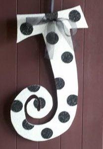 Monograms  Door Art  Letter J