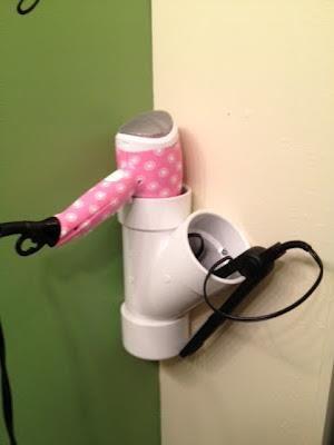 Good idea to store dryer and flat iron #organization #idea #DIY