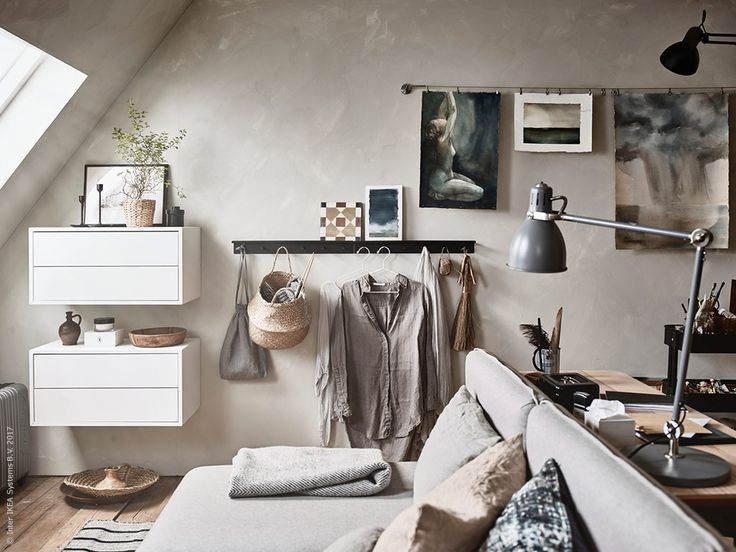 7 decor ideas for tricky attic rooms by interior Stylist Maxine Brady at WeLoveHomeBlog, Styling Anna Cardell, Photos Andrea Papini forIkea Livet Hemma