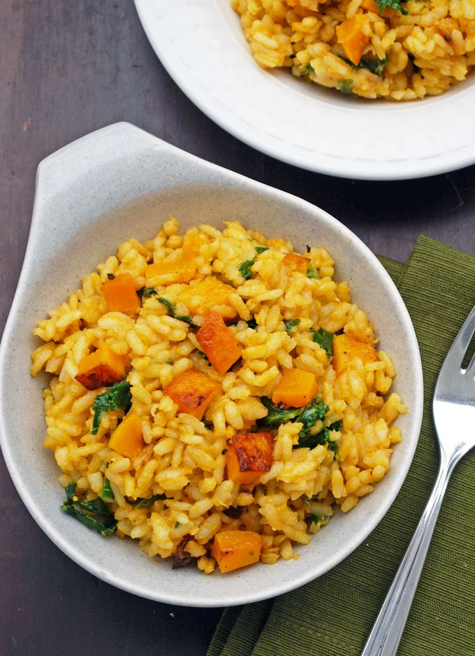Butternut Squash and Kale Risotto | Recipe | Kale ...