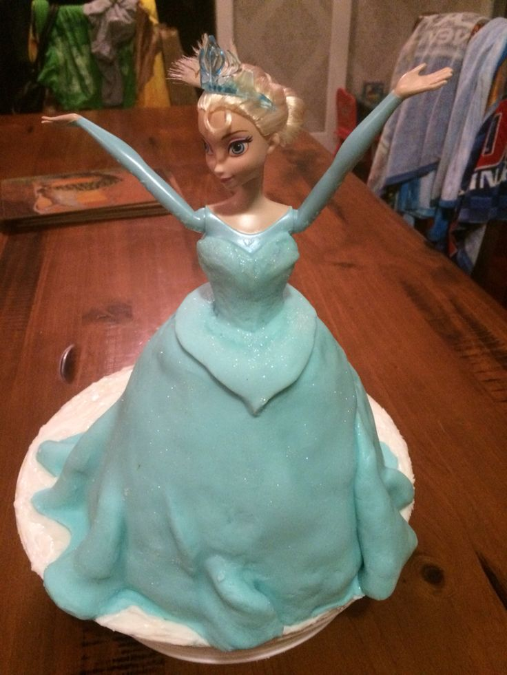 Elsa before the finishing touches.
