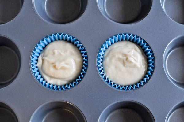 Cupcakes FOR TWO! 1 egg white, 2 Tbsp sugar, 2 Tbsp butter, melted, 1 tsp vanilla, 1/4 cup flour, 1/4 heaping tsp of baking powder, pinch of salt, 1 1/2 Tbsp milk