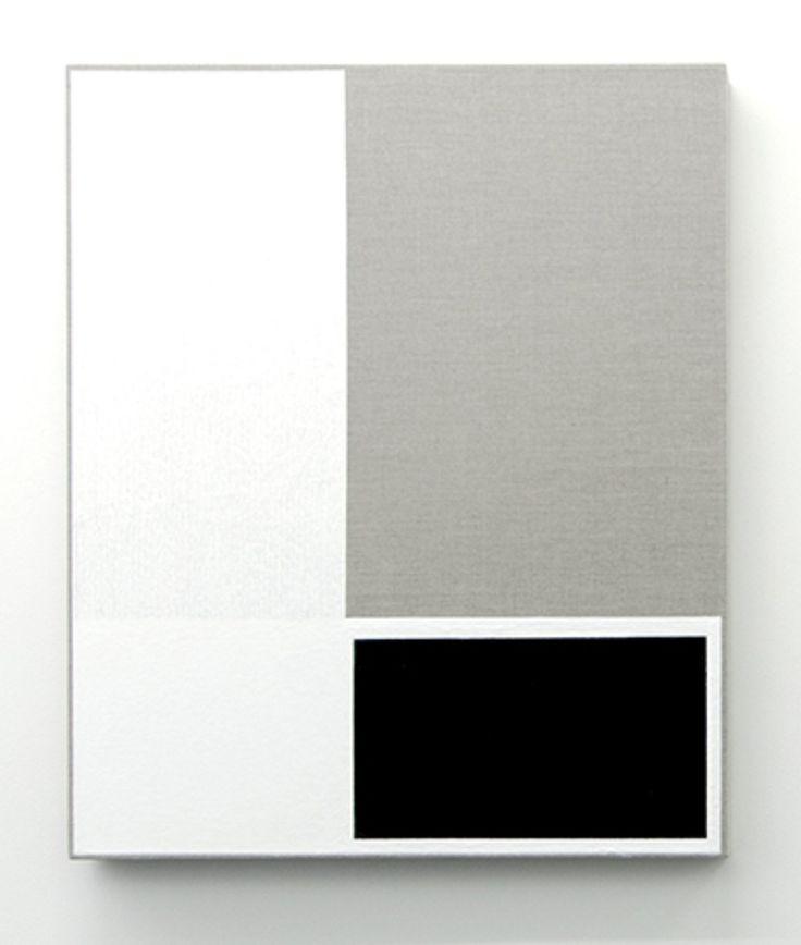 Alan Johnston | Untitled, 2013 | Acrylic titanium white and beeswax on linen