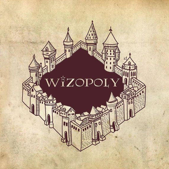 Withopoly: Monopoly Box von Flotography Design inspired by Harry Potter   – Harry Potter Monopoly
